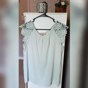 Mint Lace Shoulder Blouse by Philosophy